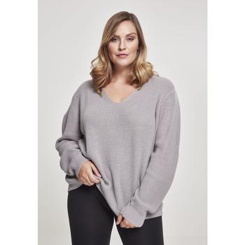 textil Dame Sweatshirts Urban Classics Sweatshirt femme Urban Classic back lace up GT gris