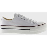 Sko Lave sneakers Victoria Baskets  tribu double toile blanc