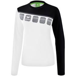 textil Dame Sweatshirts Erima Haut d'entrainement femme manches longues  5-C blanc/noir/gris