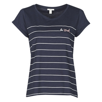 textil Dame T-shirts m. korte ærmer Esprit T-SHIRTS Blå