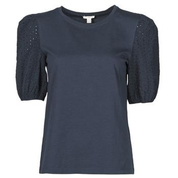 textil Dame T-shirts m. korte ærmer Esprit T-SHIRTS Sort