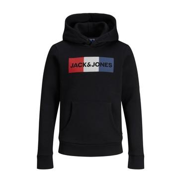 textil Dreng Sweatshirts Jack & Jones JJECORP LOGO PLAY SWEAT Sort