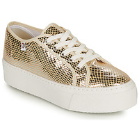 Sko Dame Lave sneakers Yurban SUPERTELA Guld
