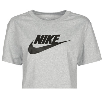 textil Dame T-shirts m. korte ærmer Nike NSTEE ESSNTL CRP ICN FTR Grå / Sort