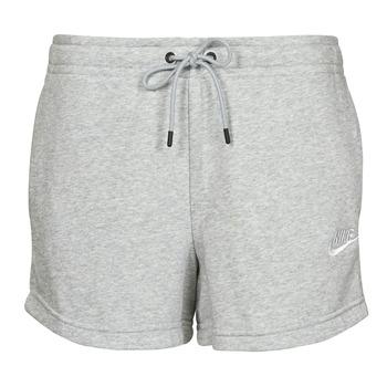 textil Dame Shorts Nike NSESSNTL FLC HR SHORT FT Grå / Hvid