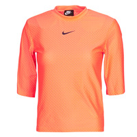 textil Dame T-shirts m. korte ærmer Nike NSICN CLSH TOP SS MESH Orange