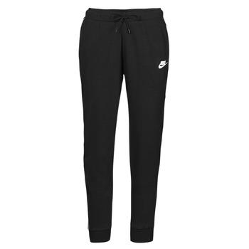 textil Dame Træningsbukser Nike NSMLNESSNTL FLC MR JGGR Sort / Hvid