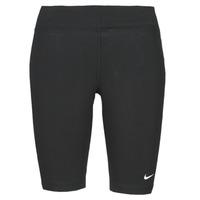 textil Dame Leggings Nike NSESSNTL MR BIKER SHORT Sort / Hvid