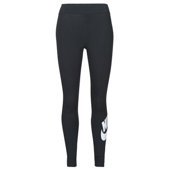 textil Dame Leggings Nike NSESSNTL GX HR LGGNG FTRA Sort / Hvid