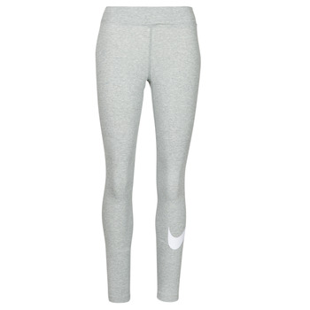 textil Dame Leggings Nike NSESSNTL GX MR LGGNG SWSH Grå / Hvid