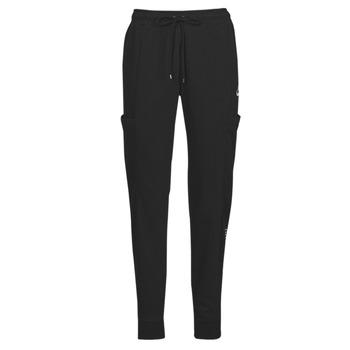 textil Dame Træningsbukser Nike NSAIR PANT FLC MR Sort / Hvid