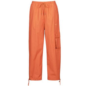 textil Dame Træningsbukser Nike NSICN CLASH PANT CANVAS HR Brun / Orange