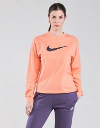 textil Dame Langærmede T-shirts Nike NSICN CLSH LS TOP HBR Pink / Violet