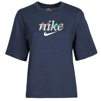 textil Dame T-shirts m. korte ærmer Nike NSTEE BOXY NATURE Blå