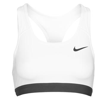 textil Dame Sports-BH Nike DF SWSH BAND NONPDED BRA Hvid / Sort