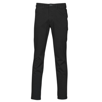 textil Herre Chinos / Gulerodsbukser Selected SLHSLIM-MILES FLEX Sort