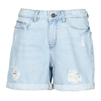 textil Dame Shorts Noisy May NMSMILEY Blå / Lys