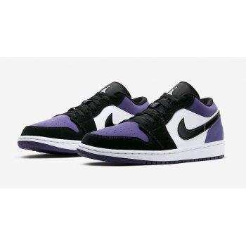 Sko Lave sneakers Nike Air Jordan 1 Low Court Purple  Court Purple/Black-White