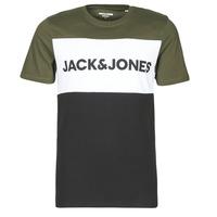 textil Herre T-shirts m. korte ærmer Jack & Jones JJELOGO Kaki