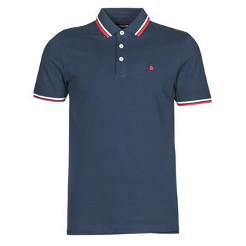 textil Herre Polo-t-shirts m. korte ærmer Jack & Jones JJEPAULOS Marineblå