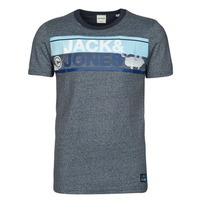 textil Herre T-shirts m. korte ærmer Jack & Jones JCONICCO Marineblå