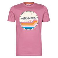 textil Herre T-shirts m. korte ærmer Jack & Jones JORTYLER Pink