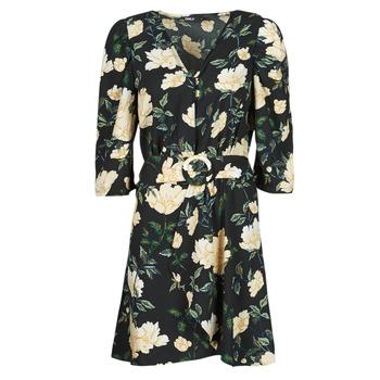 textil Dame Korte kjoler Only ONLEVE 3/4 SLEEVE SHORT DRESS WVN Sort