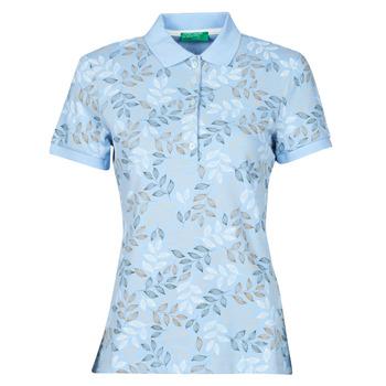 textil Dame Polo-t-shirts m. korte ærmer Benetton CHOLU Blå