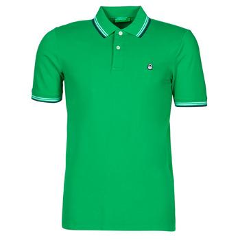 textil Herre Polo-t-shirts m. korte ærmer Benetton 3WG9J3181-108 Grøn