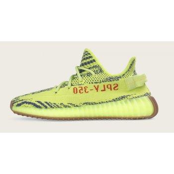 Sko Lave sneakers adidas Originals Yeezy Boost 350 V2 Semi Frozen Yellow Semi Frozen Yellow/Raw Steel-Red