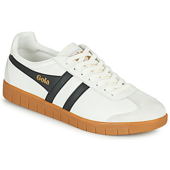 Sko Herre Lave sneakers Gola HURRICANE LEATHER Hvid / Sort