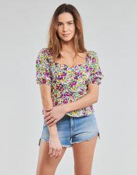 textil Dame Toppe / Bluser Yurban OPEET Hvid / Flerfarvet