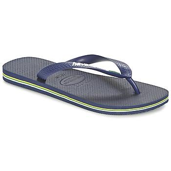 Sko Flip flops Havaianas BRASIL LOGO Marineblå