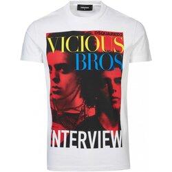 textil Herre T-shirts m. korte ærmer Dsquared S74GD0475 Hvid