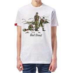 textil Herre T-shirts m. korte ærmer Dsquared S74GD0361 Hvid