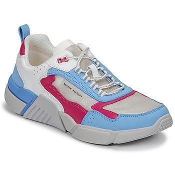 Sko Dame Lave sneakers Skechers BLOCK/WEST Hvid / Blå / Pink