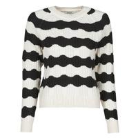 textil Dame Pullovere Only ONLKAITLIN Sort / Hvid