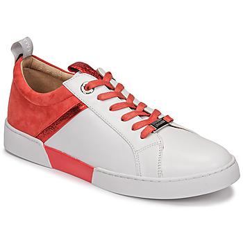Sko Dame Lave sneakers JB Martin GELATO Hvid / Koral