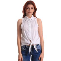 textil Dame Toppe / Bluser Fornarina BE174573CA1609 hvid