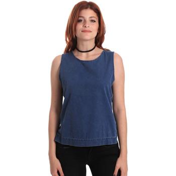 textil Dame Toppe / Bluser Fornarina SE175J70D883SK Blå