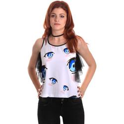 textil Dame Toppe / Bluser Fornarina SE175L26JG0709 hvid