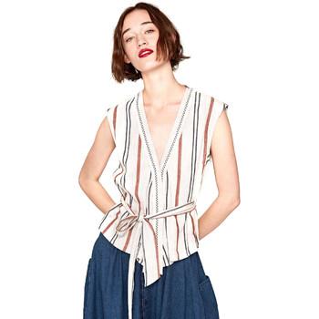 textil Dame Toppe / Bluser Pepe jeans PL303347 Beige