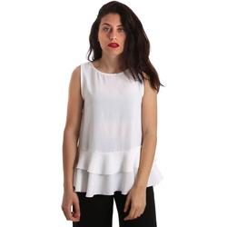 textil Dame Toppe / Bluser Gaudi 911FD45048 hvid