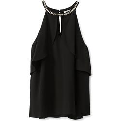 textil Dame Toppe / Bluser Liu Jo W19444T9767 Sort