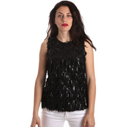 textil Dame Toppe / Bluser Fracomina FR19SP533 Sort