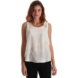 textil Dame Toppe / Bluser Liu Jo W69236 T8552 hvid