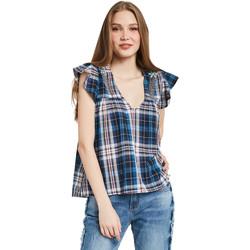 textil Dame Toppe / Bluser Gaudi 011BD45007 Blå