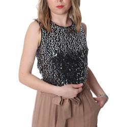 textil Dame Toppe / Bluser Fracomina FR20SP634 Sort