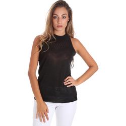 textil Dame Toppe / Bluser Fracomina FR20SM812 Sort