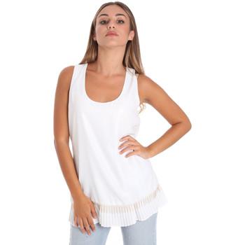 textil Dame Toppe / Bluser Fracomina FR20SM014 hvid